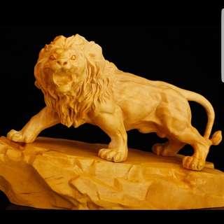 【禮贊精品文物館·狂·獅王】黃陽木獅王慶典動物木雕佛具典藏文物意境開運招財擺設居家生活美化環境