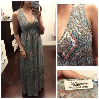 Pasley Pattern Summer Maxi Dress