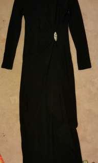 Ralph Lauren black evening gown dress, Size 10