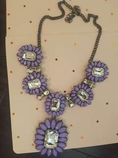 Brand New Purple Statement Necklace