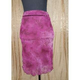 SALE Chiffon Belted Skirt