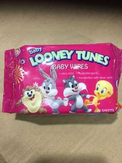 [Limited Edition] Looney Tunes Baby Wipes 20pcs Travel Pack