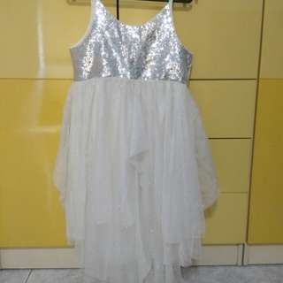 H&M white shimmery fairy dress