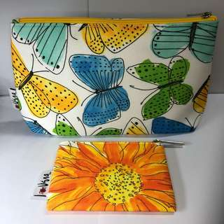 Clinique Vera Neumann Butterflies and Sunflowers Makeup Bag/Pouch