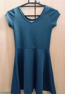 EVER 21 blue green dress