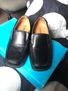 Florsheim Kids Black Leather