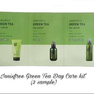 Innisfree Green Tea Day Care Kit Sample Size 3 Sachet New 100% Original