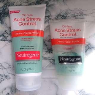 (BUNDLE) Oil-Free Acne Stress Control Power-Clear Wash & Scrub