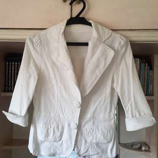White casual blazer