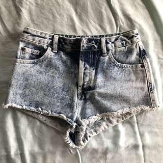 Topshop Modo Petite Denim Short