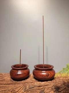 小葉紫檀 香插(一對)