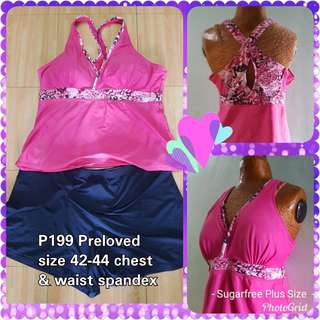 Plus size Tankini Swim Wear Set