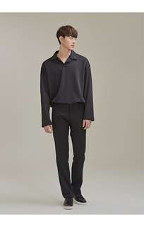 A0144 Open Collar Long Sleeve T-Shirt