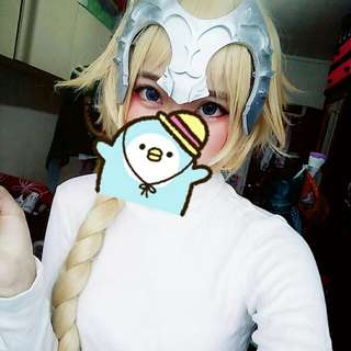 Jeanne D arc Wig(with Head Gear)
