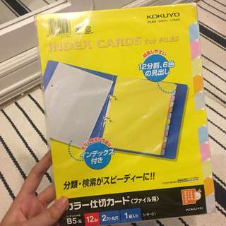 Kokuyo Index Cards for binder