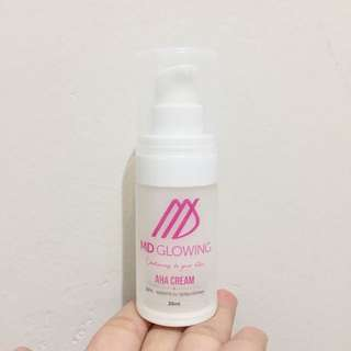 AHA cream MD glowing