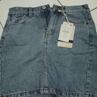 Rok skirt jeans Pull N Bear (New)
