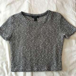 F21 knit crop top