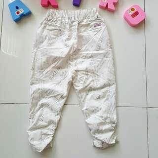 White printed jogger pants