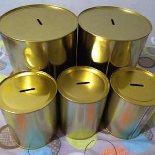 Tin Can Coin Bank/ Alkansya (Plain)