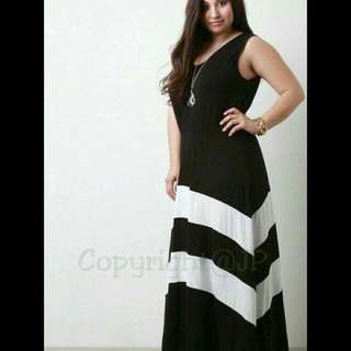 💋BLACK WHITE DRESS      CAN FIT TO M TO XL FRAME          #jo