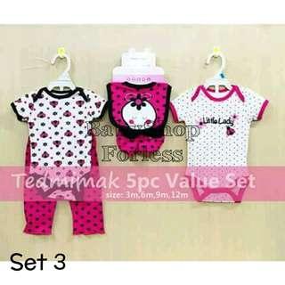 5pc Baby Onesie Set - SET 3