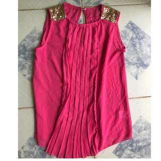 Sequined Pink Blouse