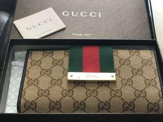 gucci classic long wallet