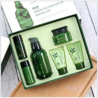 New Innisfree Green Tea Seed Serum Special Set 100% Original New Korea