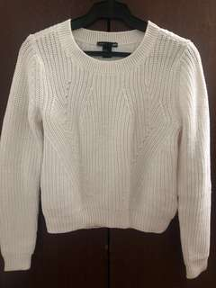 H&M white knit pullover sweater