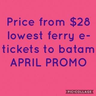 Batam ferry tickets indonesia Etickets April promo