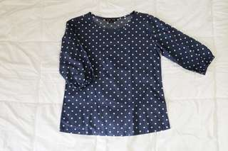 Polka dotted top