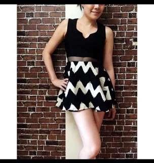 🚚 高腰剪裁造型洋裝(裙內是褲子)