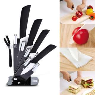 6 in 1 Sharp Kitchen Ceramic Knives