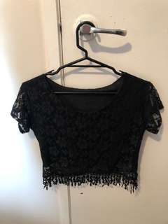 Laces crop top