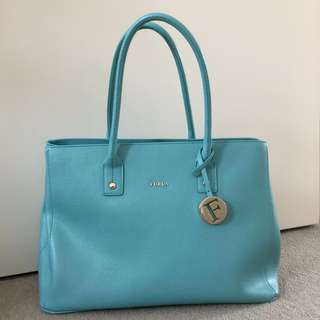 Furla Turquoise Linda Tote Bag