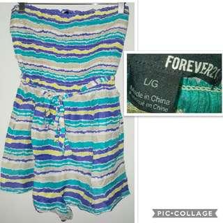 Forever 21 stripes romper