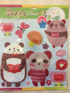 Room decor 3D stickers - Bears family