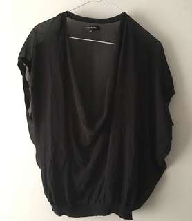 Charity Sale! Authentic Tout a Coup Women's Sheer Flowy Formal Office Size Small Women's Top Blouse
