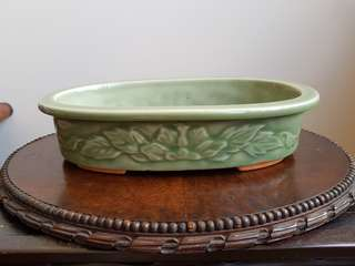 Old Chinese celadon bonsai pot