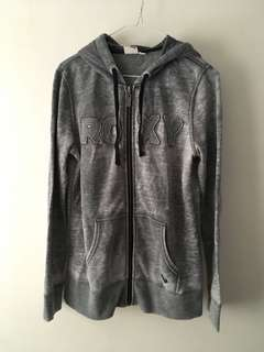 Charity Sale! Authentic Roxy Grey Comfortable Cotton Women's Size Large Sweater