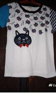 cat roundneck tshirt for girls
