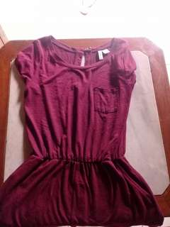 h&m, hnm preloved, preloved, jumpsuit, maroon, top, hm