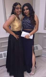 Navy Two Piece Prom Dress