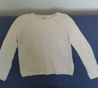 White Knit Sweater