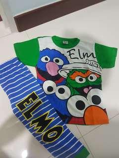 Assorted clothing elmo/baby shark