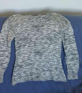 Black & White Knit Sweater