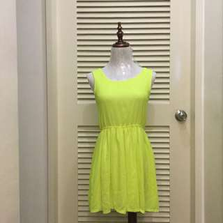PLOVED: Neon Green Dress