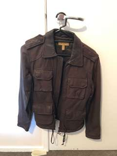 Dark brown leather jacket
