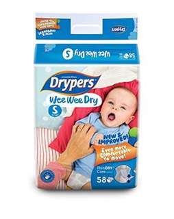 Drypers Wee Wee Dry Small 58pcs
